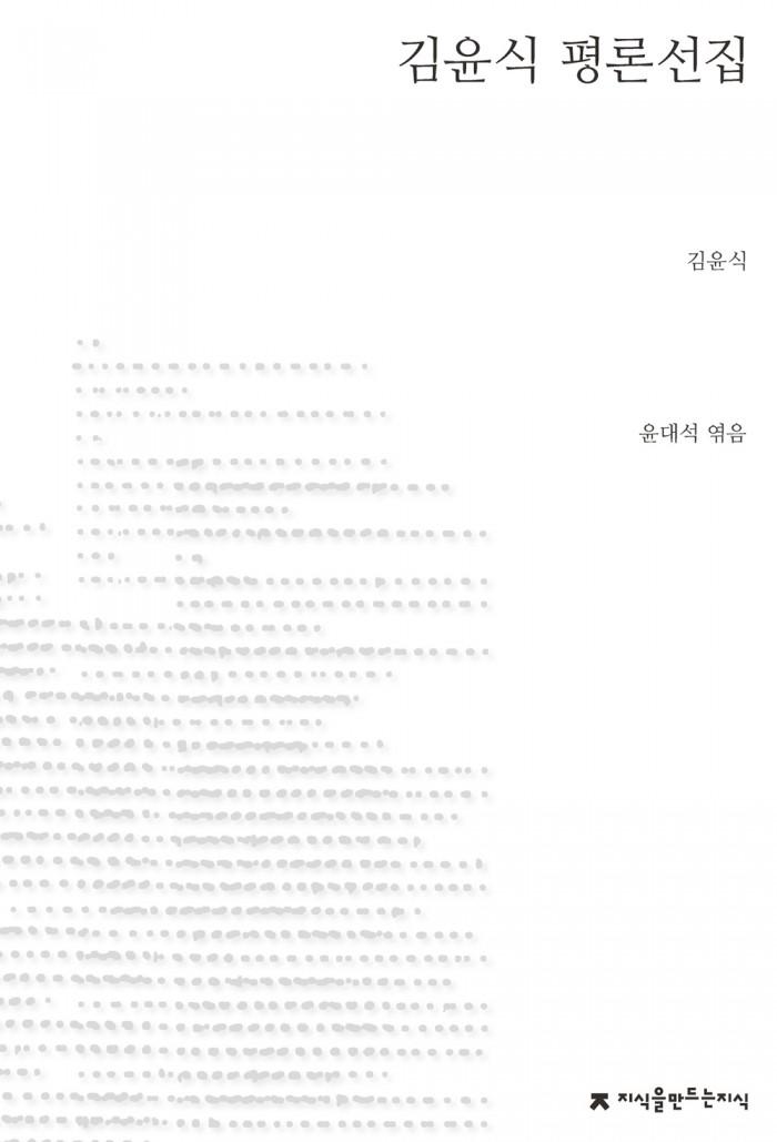 김윤식평론선집