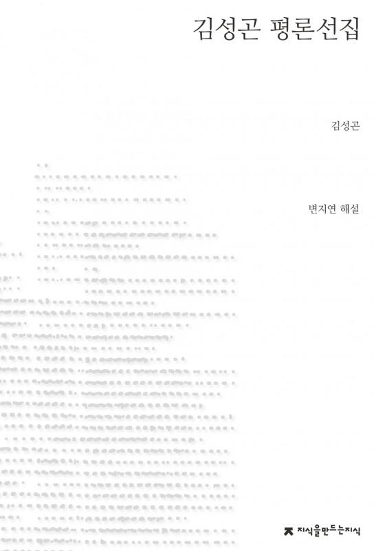 김성곤 평론선집_표지_자켓